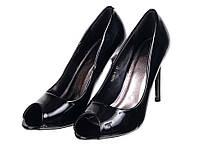 Классические женские туфли с открытым носком