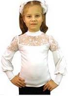 Блуза школьная для девочки трикотажная 2419