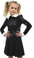Платье школьное для девочки трикотажное 1891