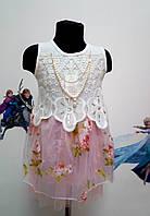 Платье кружевное, нарядное с фотином.