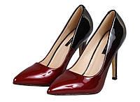 Красивые женские туфли лодочки  Красные