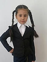 Пиджак на девочку школьный два валана 513-2 без подкладки mari