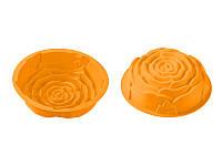 Силиконовая форма для выпекания пирожных Peterhof роза, апельсин (PH-12841-OR)