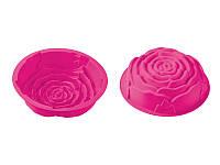 Силиконовая форма для выпекания, роза, розовая