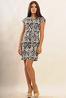 Летнее лаконичное платье из стрейч-коттона 42-52 размера