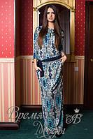Длинное летнее платье с карманами и капюшоном. Размеры от 42 до 54