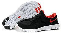 Мужские беговые кроссовки Nike Free Run Plus 2 (найк фри ран) черные