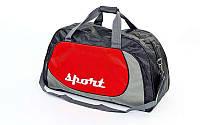 Сумка спортивная DUFFLE BAG Zelart (темно синий,красный)