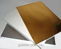 Подложка усиленная под торт серебро 40Х50cm (код 03166)