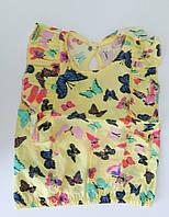 Блуза ЦВЕТНЫЕ БАБОЧКИ