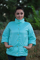 Женская стильная куртка рукав 3/4 плащевка на синтепоне