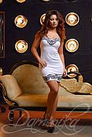 Платье Махаон - белое облегающее платье с узором бабочек