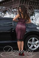 Гипюровое коктейльное платье Эрион