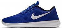 Мужские беговые кроссовки Nike Free Run (найк фри ран) синие