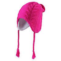 Детская зимняя шапка с завязками для девочки Reima 528340 - 4620. Размер 52, 54 и 56.