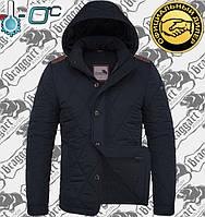 Осенняя мужская куртка Браггарт - 1275 черно синий