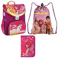 Набор первоклассника для девочки Рюкзак, сумка для обуви, пенал Kite Mia and Me 529