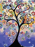 """Набор для рисования по цифрам """"Дерево мечты"""" 30*40см (без коробки)"""