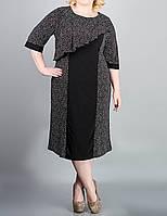 """Модное платье в мелкий горошек """"Веста"""" большого размера"""