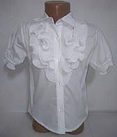 Блуза белая с коротким рукавом р.28,30,32,34,36