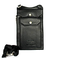 Мужская сумка удобная маленькая черная (Polar)
