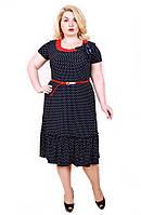 Новинка Женское платье Тюльпан горох Размеры 50,52,54,56,58