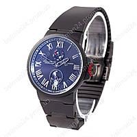 Мужские наручные часы Ulysse Nardin Maxi Marine AAA All Black