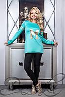 Женский свитшот «Риз» 21519 M   Длинный свитер