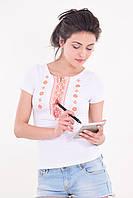 Качественная футболка вышиванка женская с коротким рукавом