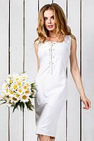 Платье  Стильное лиф на шнуровке цвет белый