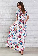 Изящное летнее платье рубашечного фасона из легкого штапеля