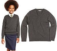 Джемпер школьный чистошерстяной для девочек  Шерсть мериноса 100% Marks&Spencer (Aнглия)