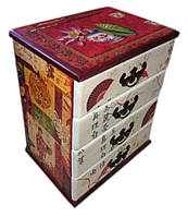 Шкатулка комод Китайский орнамент