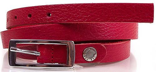 Женский яркий узкий ремень из натуральной кожи 1.5 см. Y.S.K. (УАЙ ЭС КЕЙ) SHI2507-1, красный