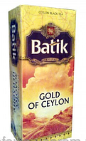 Чай Батик Золото Цейлона 25*2г  и 100* 2г черн.
