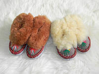 Детские тапочки меховые из овчины, закопанки