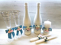 Набор аксессуаров для бирюзовой свадьбы