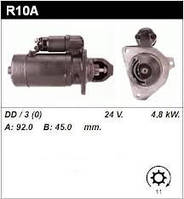 Стартер R10A, R10.01. Двигатель Andoria, Mielec. Сталева Воля, Stalowa Wola. SW 400, SW-400, SW480, SW-480.