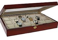 Шкатулка для 18 наручных часов и ювелирных украшений