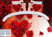 5D Постельное белье Евро размера East Comfort - сердце из роз