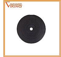 Блин для штанги или гантелей 10 кг (битумный)