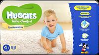 Huggies Ultra comfort 4+ 68шт. для мальчиков и девочек Хаггис ультра  Памперсы для детей