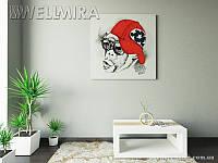 Модульная картина Крутая обезьяна на ткани 100х100 см, арт. FA-10 001466