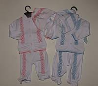 Комплект на новорожденного в украинском стиле.
