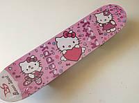 Скейт детский HELLO KITTI розовый 60 см.