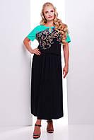 Красивое платье в длине макси из однотонного тонкого трикотажа размеры 54 56 58 60