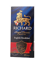 Чай Richard English Breakfast чёрный пакетированный 25 шт 906701