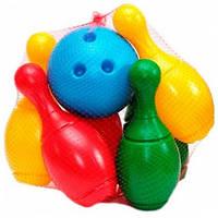 Детский игровой набор для игры в боулинг ТехноК пластик