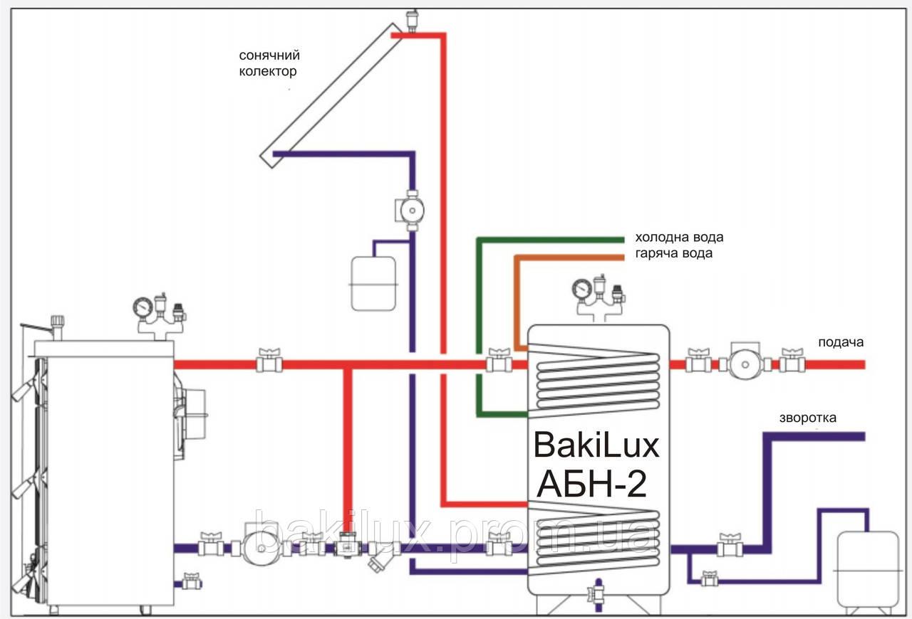 Схема подключения котла к аккумулирующей емкости