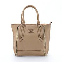 Модная женская сумка бежевого цвета из искусственной кожи